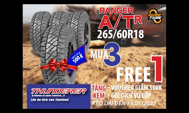 Ưu đãi khủng Ranger A/TR 265/60R18 thay Tết