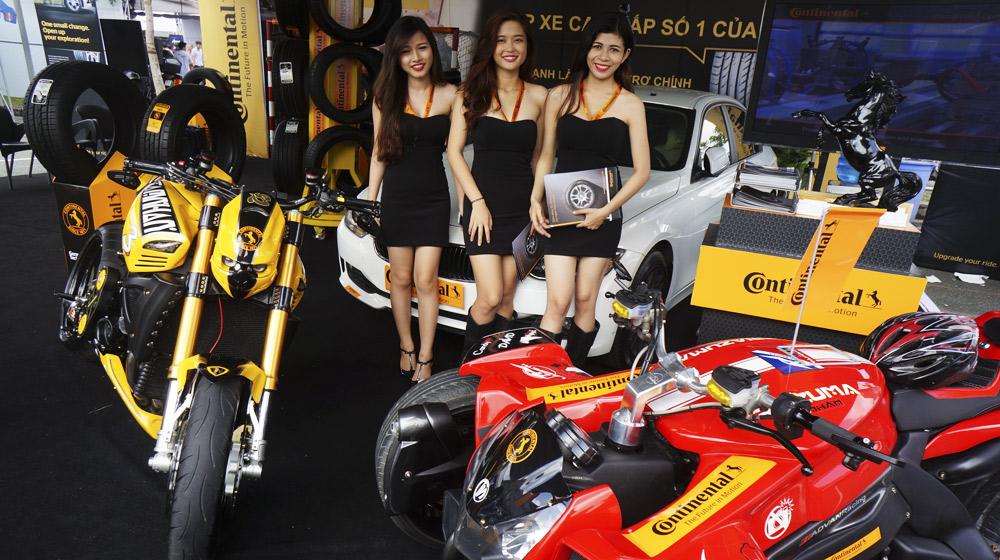 """Continental """"phô diễn"""" lốp xe tại Triển lãm xế độ lớn nhất Việt Nam"""